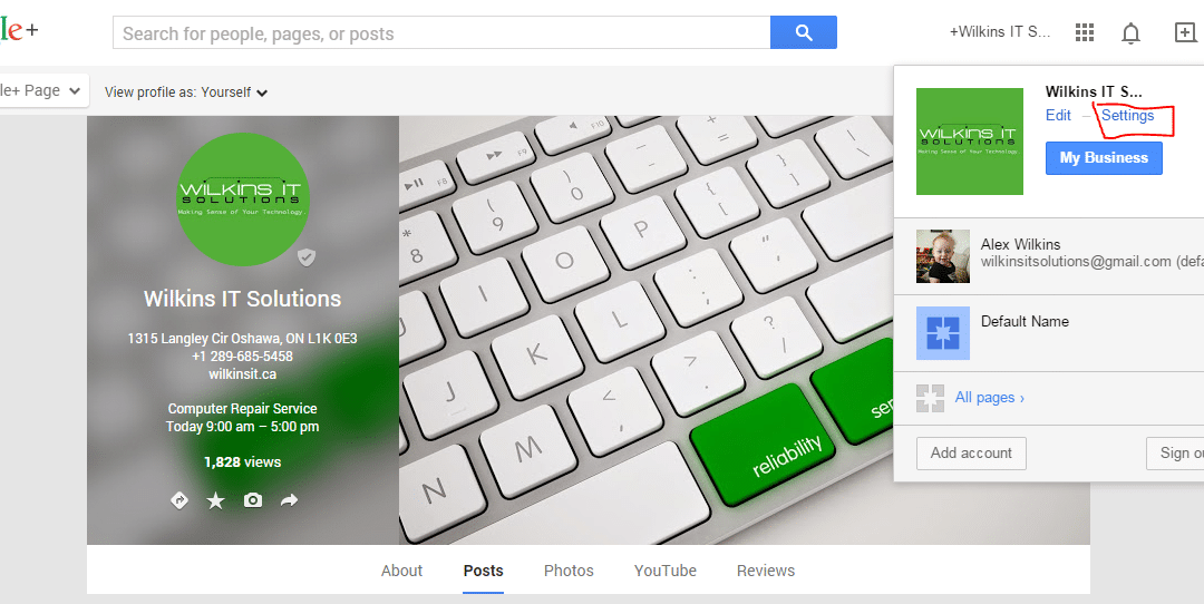 Adding Someone as a Google Plus Admin