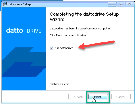 Installing and Setting Up Datto Drive